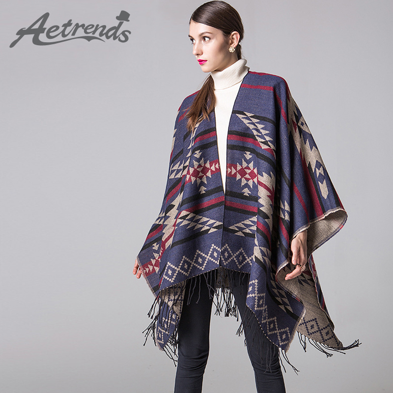 cf66f4b7c AETRENDS] Winter Blanket Poncho Cape Women Warm Scarves Cashmere ...