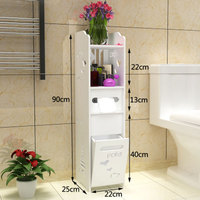 Modern Fashion Bathroom Vanity Floor Standing Toilet Cabinet Folding Bathroom Storage Rack Washbasin Shower Corner Shelf