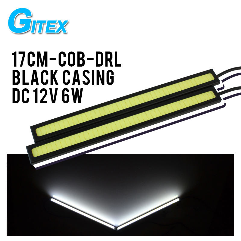 Super Bright   100% Waterproof 17cm cob car led fog light DRL daytime running lights  parking lamp car lights Free Shipping 2pcs led car fog lamp super bright 1000lm waterproof drl eagle eye light external lights daytime running lights