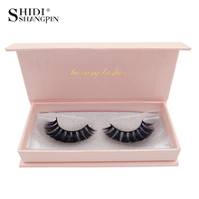 SHIDISHANGPIN 3d mink false lashes natural long make up eyelash 1 box eyelashes hand made #63