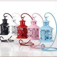 Europäischen stil Hohlen Kerzenhalter Dekoration Retro romantische moderne eisen Marokkanischen stil Kerzenhalter hochzeitsgeschenk