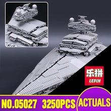 LEPIN 05027 Estrellas 3250 Unids Wars Emperador combatientes nave Modelo Kit de Construcción de Ladrillos de Juguete Bloques Educativos Compatible 10030