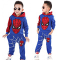 Spring Toddler Boys Clothing Sets Hoodie Cartoon  Cotton Baby Suits Costume for Kids Tracksuit Spider Man Children Clothes