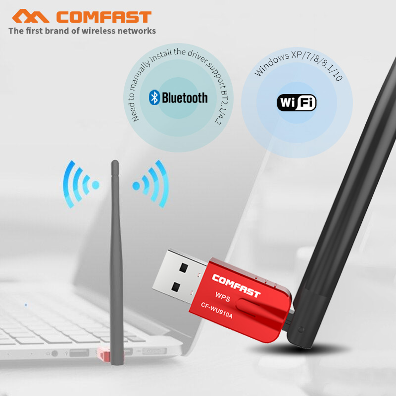 AC600 5GHZ 2.4Ghz Dual Band USB Wireless Wifi Adapter 600Mbps Bluetooth 4.2 Wi-fi Network LAN Card PC Wifi Receiver Wifi Antenna