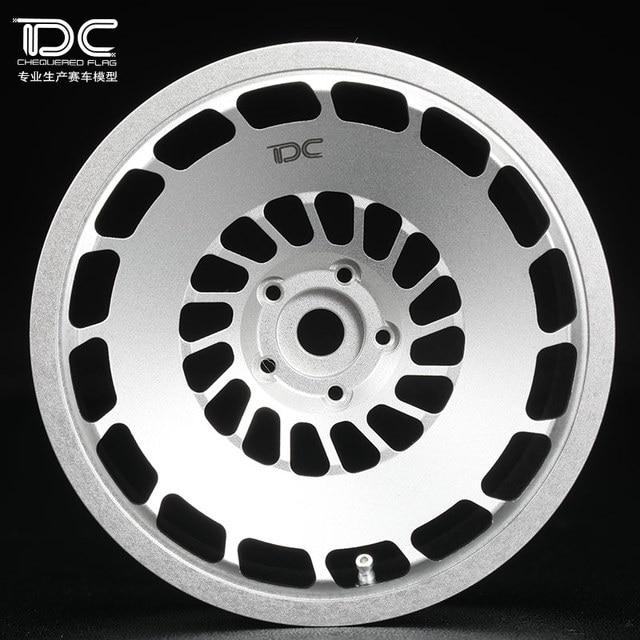 4pcs Metal Wheel Offset 6 9 Silverblack Ep For 110 Rc Cars Drift