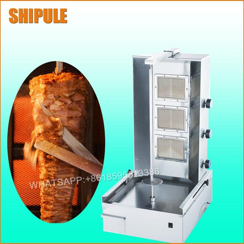 Gas shawarma machine;Sharwarma grill;Rotary barbecue