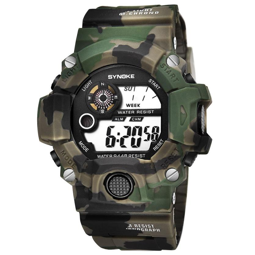 Watches Men Digital Watch Luxury Mens Multi Function Army Military Watches Sports LED Digital Dual Movement Wristwatch Dec19