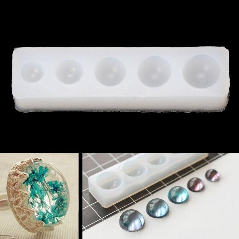 Free Shipping DIY Silicone Hemisphere Pendant Mold Resin Jewelry Pendant Making Epoxy Casting