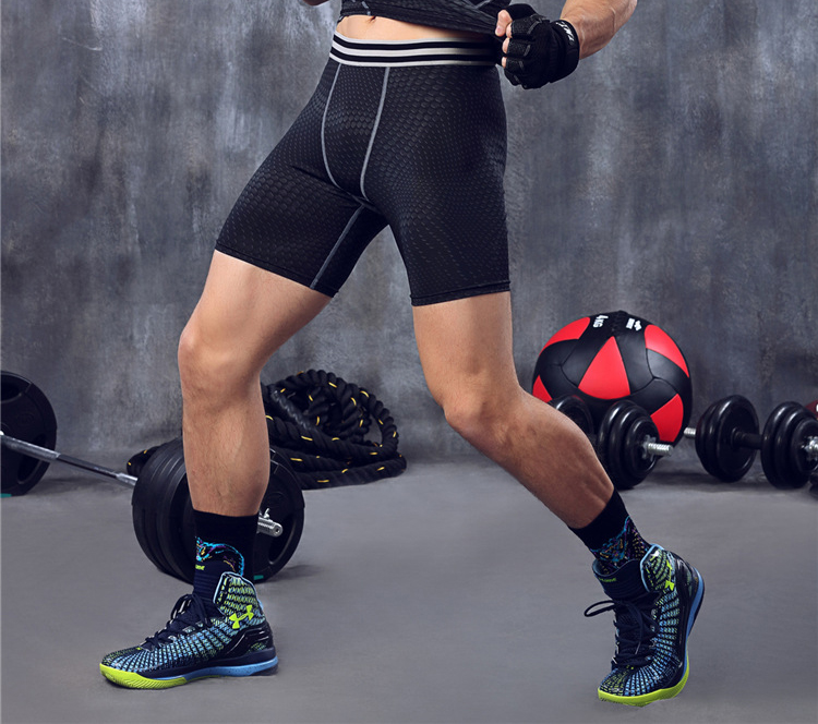 Mens Athletic Compression Boxer Briefs Workout Shorts Soccer Basketball Tights