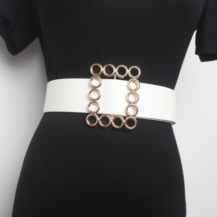 Women's Runway Fashion PU Leather Cummerbunds Female Dress Corsets Waistband Belts Decoration Wide Belt R1586