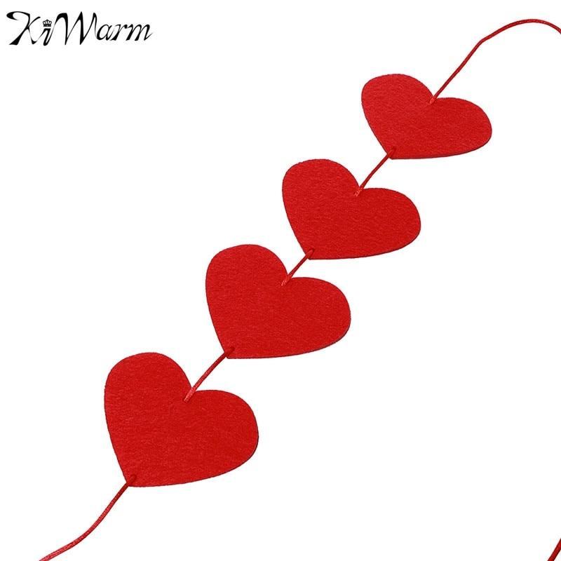 KiWarm Schöne Rote Liebe Herzen Form Vorhang Hängen Aufkleber Für ...