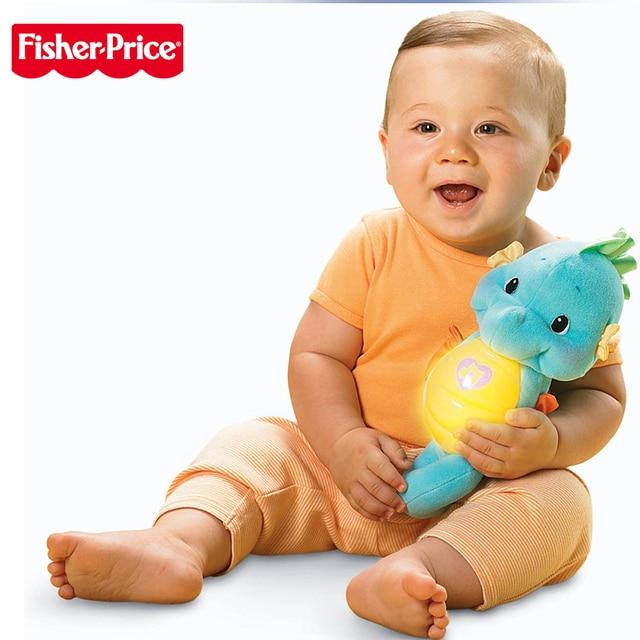 Originele Fisher Prijs 0-12months Baby Seahorse Musical Kids Sussen Educatief Speelgoed Hippocampus Pluche Peluche Pop Oyuncak 1
