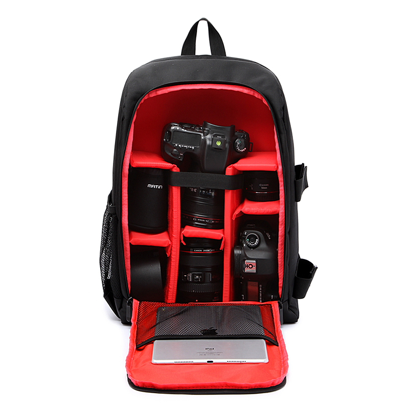 Popular new professional Waterproof photography Camera Bags female mens computer bag 15-inch backpack W/Rain Cover For Nikon Ca