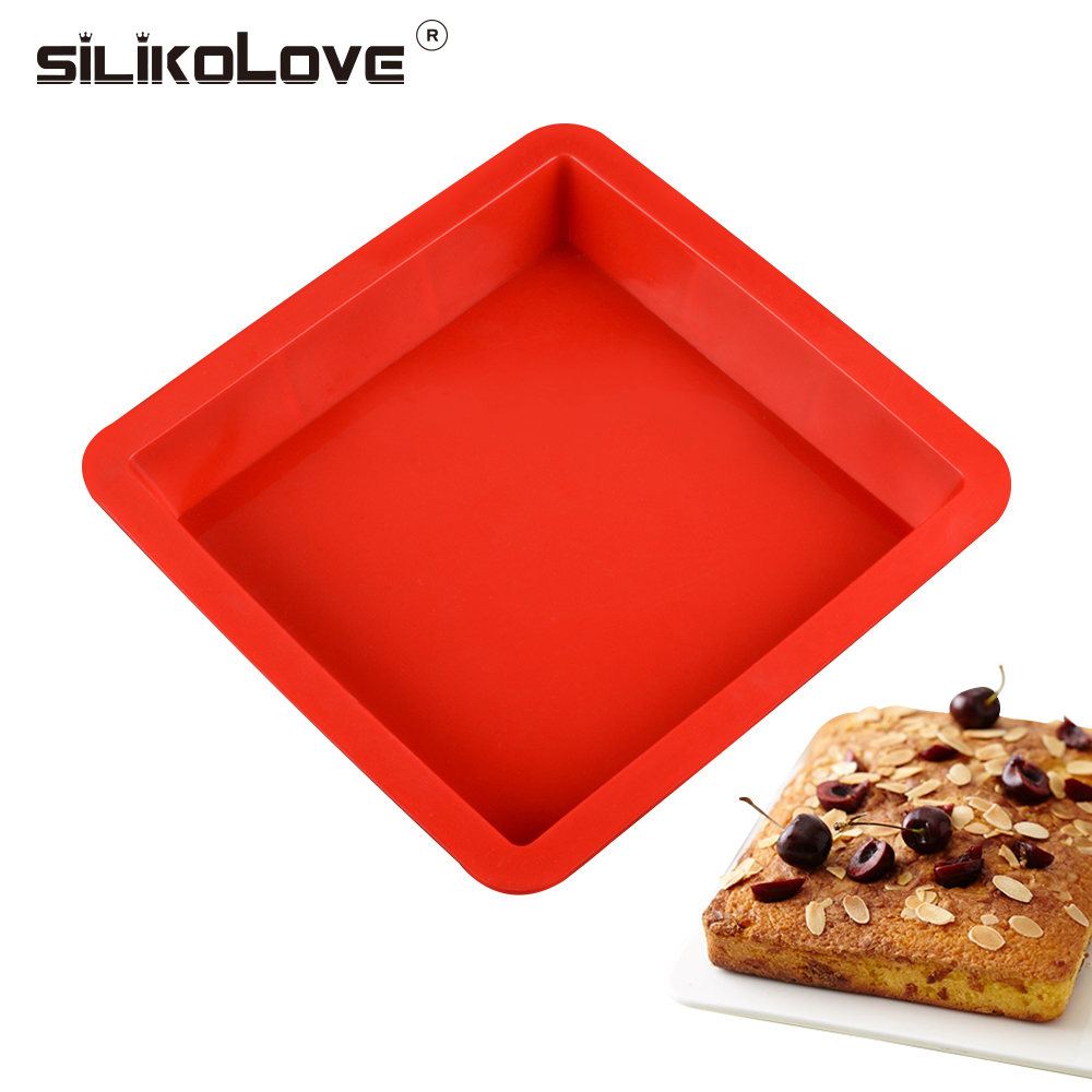 SILIKELOVE Non-Stick Square Silicone Baking Pan Cake Mold 3D Dish Cakes Form Tray For Oven,Safe Material,