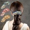 Das Senhoras Das mulheres de Noiva Pavão de Cristal Cheio de Strass Barrette Hairpin Grampo de Cabelo Retro Acessórios de Cabelo Faixa de Cabelo Decoração xth215