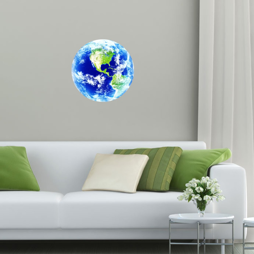 New 1pcs luminous blue earth cartoon diy 3d wall stickers for kids new 1pcs luminous blue earth cartoon diy 3d wall stickers for kids rooms bedroom wall sticker home decor living room hot sale in hair clips pins from amipublicfo Images