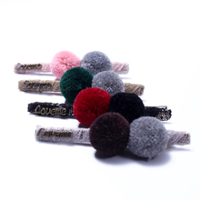 Buy Baby Hair Clips for Hair Styling Children Kids Pompom Ball Gripper Aligator Clip Clamp Pins Lined Women Girls Hairpins Barrette directly from merchant!