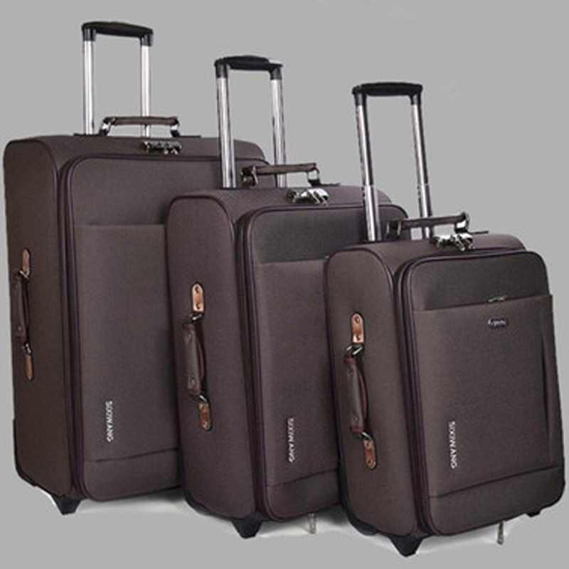 Trolley Suitcase Travel-Bag Rolling-Luggage On-Wheels Brand New Oxford Men High-Quality