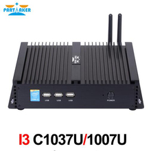 In Stock!Partaker Windows Industrial Mini PC C1037U or C1007U 2 COM Ports Free Shipping