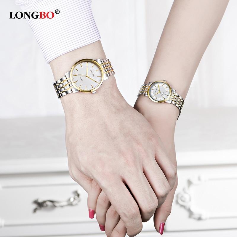 LONGBO Brand Luxury Fashion Watch Women Stainless Steel Ultra Thin Dial Waterproof Casual Business Quartz Wristwatch Lover Clock