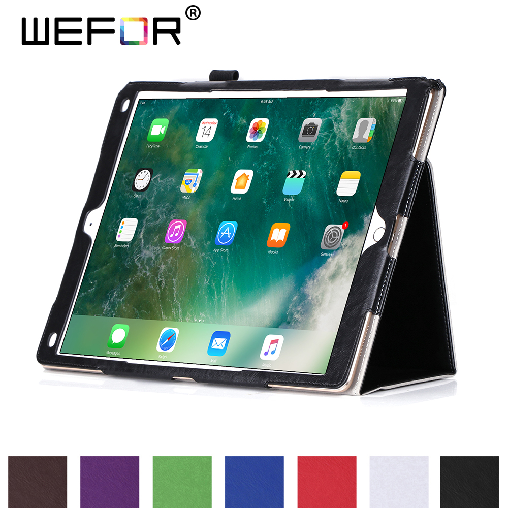 Case for iPad Pro 12.9 (2017) A1670/A1671,High Quality Luxury PU Leather Smart Case Magnetic Stand Folio 12.9 Cover w/Card Slots cover case for huawei p8 lite 2017 half a face of a cat pu tpu leather with stand and card slots magnetic closure