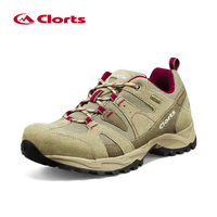 2016 Clorts Hiking Shoes Men Suede Trekking Shoes Waterproof Outdoor Mountain Shoes Anti Slipping Outdoor Shoes