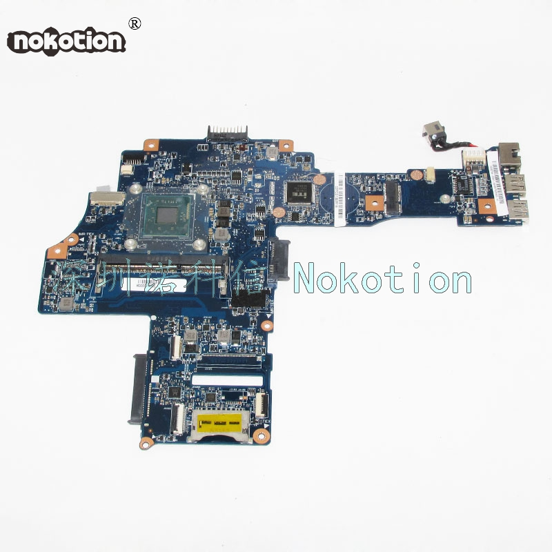 NOKOTION H000073980 Laptop Motherboard For Toshiba Satellite C40-B CA10BM N2840 CPU DDR3 Main Board WORKS nokotion genuine h000064160 main board for toshiba satellite nb15 nb15t laptop motherboard n2810 cpu ddr3
