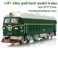 Yeni alaşım 1: 87 alaşım geri çekin tren araba motoru tren klasik çocuk model oyuncaklar diecasts araçlar juguetes sıcak satış