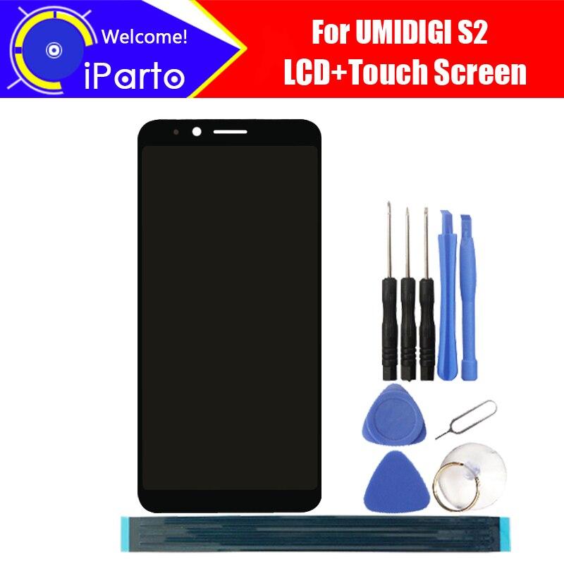 6,0 zoll UMIDIGI S2 LCD Display + Touchscreen Digitizer Montage 100% Ursprüngliche Neue LCD + Touch Digitizer für UMI S2 + Werkzeuge
