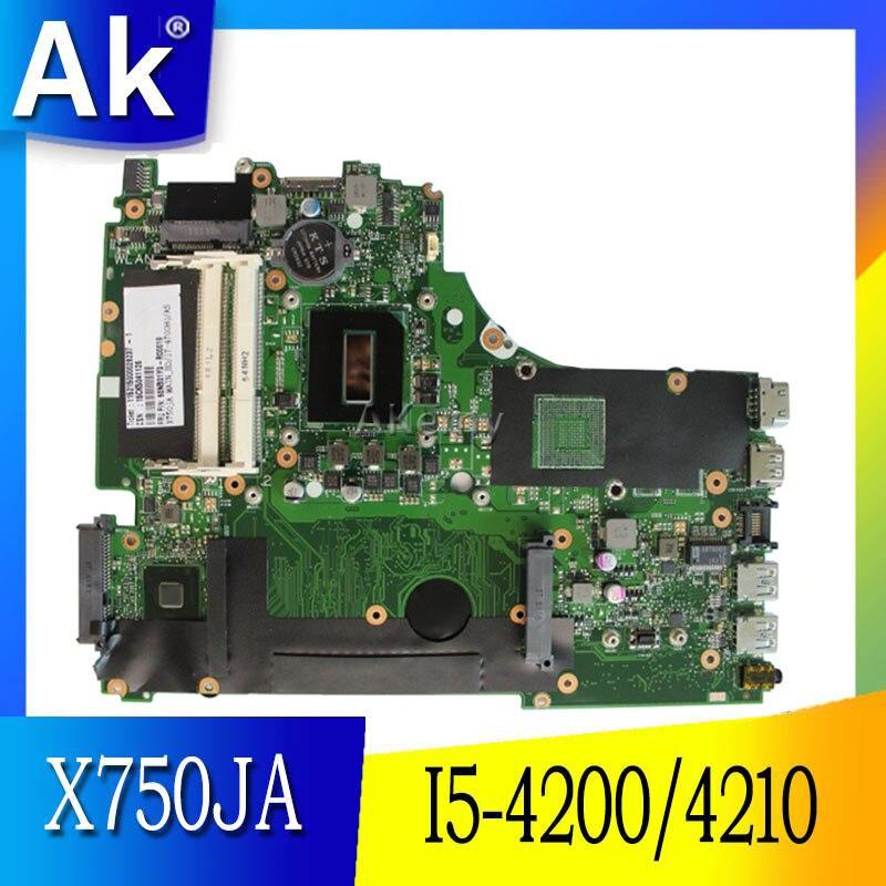 AK X750JA I5 4200 4210 Motherboard For ASUS X750J k750J A750J X750JB laptop Notebook motherboard X750JA
