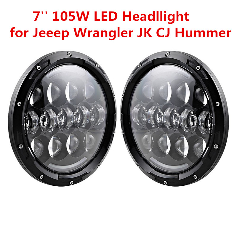Дневные светодиодные ходовые огни с янтарем сигнала поворота Сид 7 дюймов мотоцикл дальнего света для Jeep Вранглер JK, как Тойота FJ Крузер