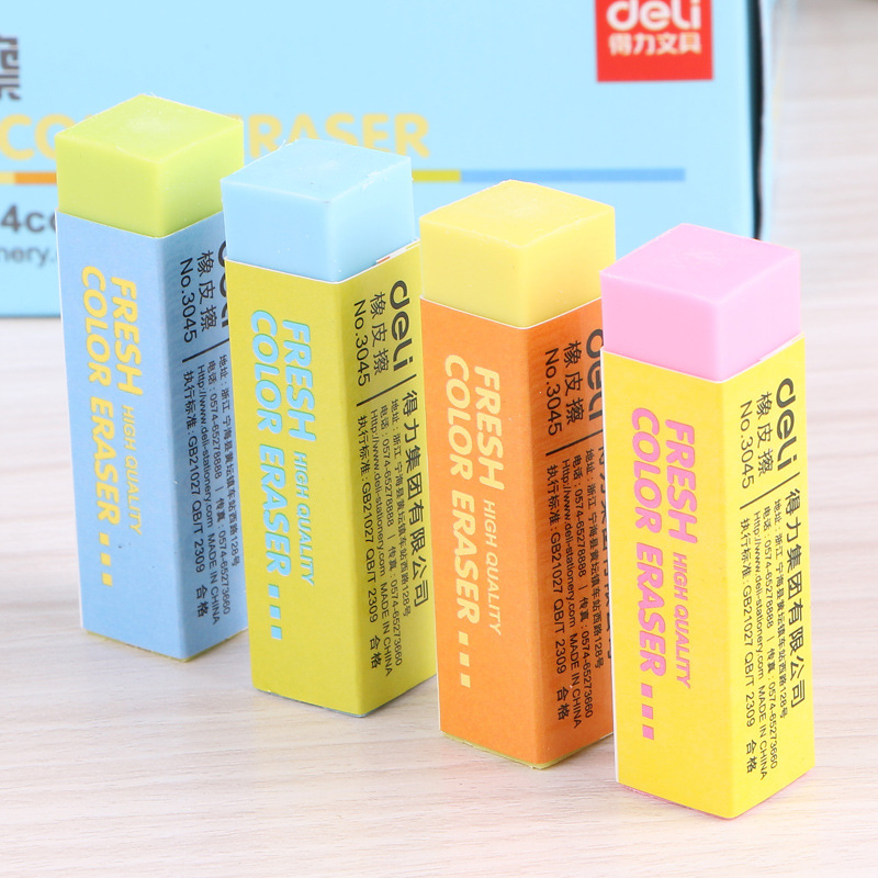 1 Pics Korean Novelty Cube Candy Color Erasers Kawaii Stationery Office And School Supplies For Kids Child Prizes