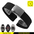 20mm 21mm Waterproof Rubber Band Sports Replacement Man for Tissot T-Touch Sports Watch T013 T33 T047 Silicone Watchstrap +Tools