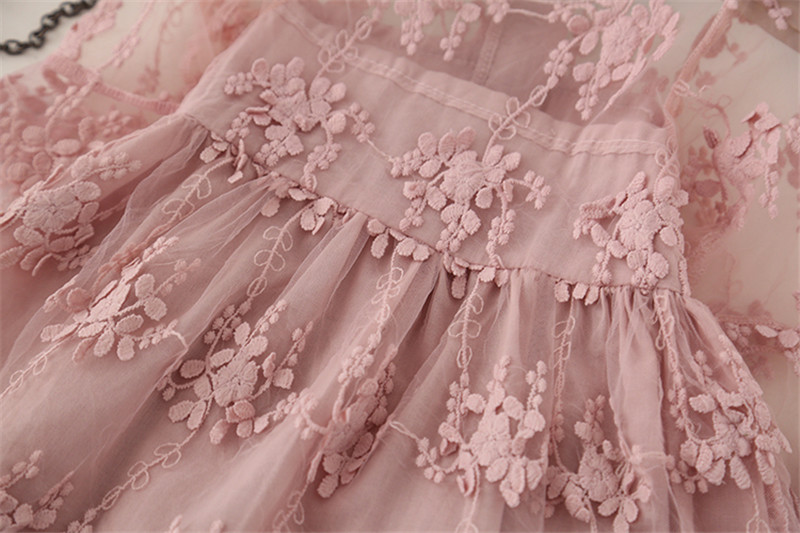 fe948fe9a2b2e Summer Girl Clothes Kids Dresses For Girls Lace Flower Dress Baby ...