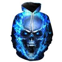 Skull Hoodies Sweatshirts Men Women 3D Pullover Funny Rock Tracksuits Hooded Male Jackets Fashion Casual Outwear