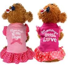 Летние милые ПЭТ щенок Маленькая Собака Кошка Pet платье Одежда Платье с воланами на рукавах Pet юбка домашних животных Одежда и аксессуары# Z