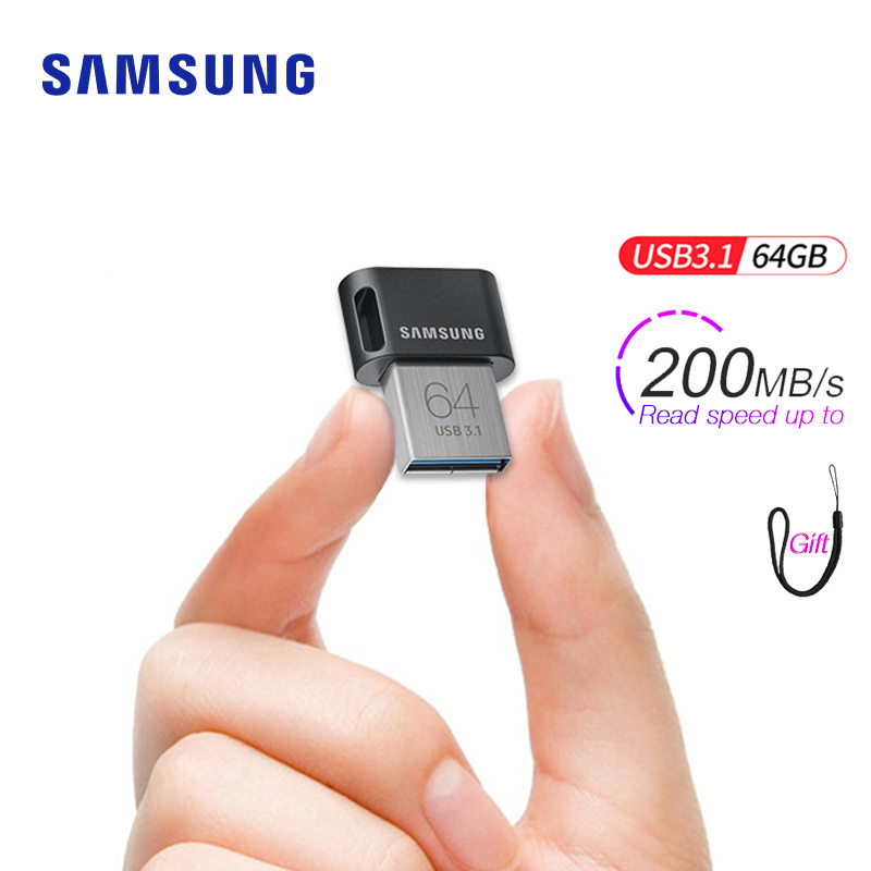Samsung USB 3.1 pen drive 64gb 32gb up to 200MB/s Memoria usb key Usb 3.0 pendrive 256gb 128gb up to 300MB/s Mini Memory Stick image