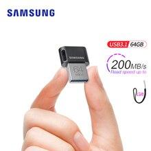 Флешка Samsung USB 3,1 на 64 ГБ, 32 ГБ, до 200 МБ/с./с, карта памяти usb 3,0, 256 ГБ, 128 ГБ, до 300 МБ/с./с, мини карта памяти
