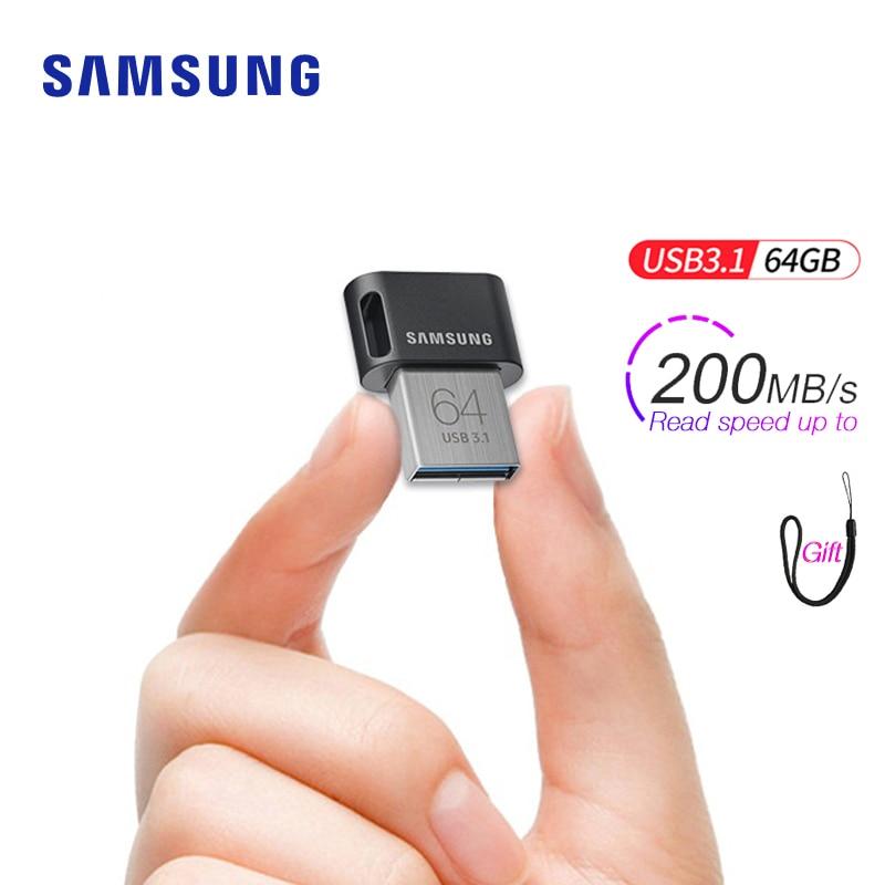 Samsung USB 3.1 Pen Drive 64gb 32gb Up To 200MB/s Memoria Usb Key Usb 3.0 Pendrive 256gb 128gb Up To 300MB/s Mini Memory Stick
