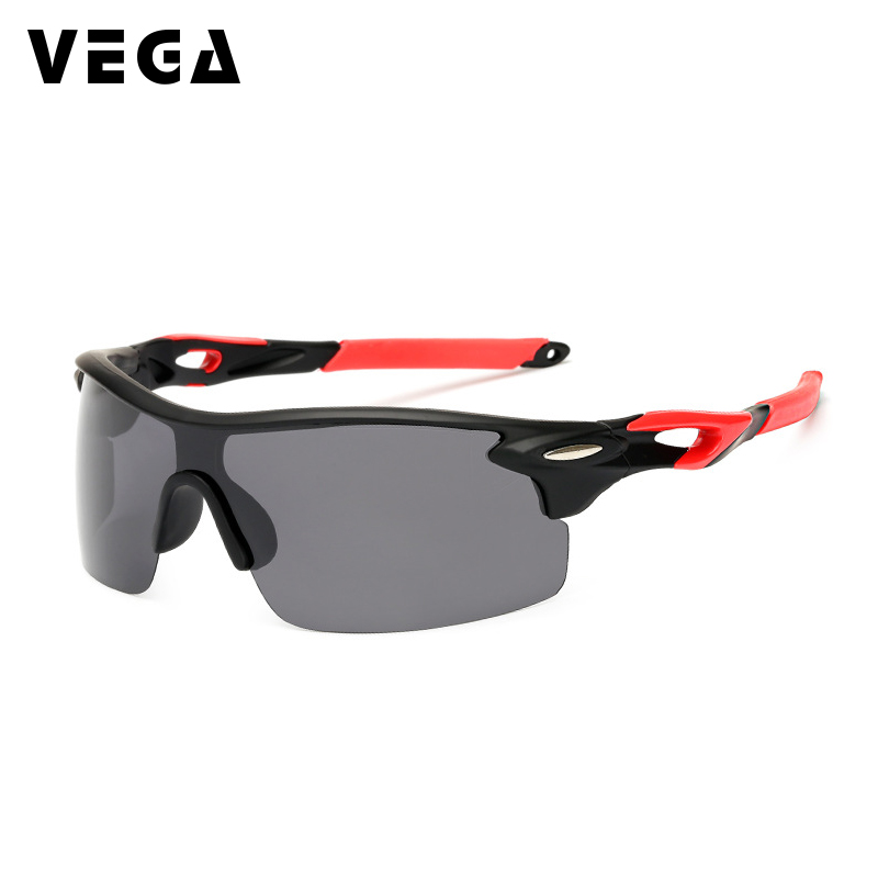 VEGA Eyewear Women Men Outdoor Sports Glasses Polarized Sports Sunglasses for Police Semi-Rimless Running Fishing Glasses 155