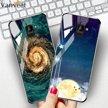 купить Glass Case For Samsung Galaxy A5 A8 Plus A7 2018 Case Coque For Fundas Samsung A5 A7 A8 Plus 2018 A530F A730F A750F Case Cover дешево
