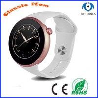 Nova Moda Cor de Rosa de Ouro Senhora Relógio Bluetooth Inteligente Relógio com Monitoramento da Freqüência Cardíaca Sono Pista Compatível para IOS & Android|smart watch clock|bluetooth smart watch|smart watch -