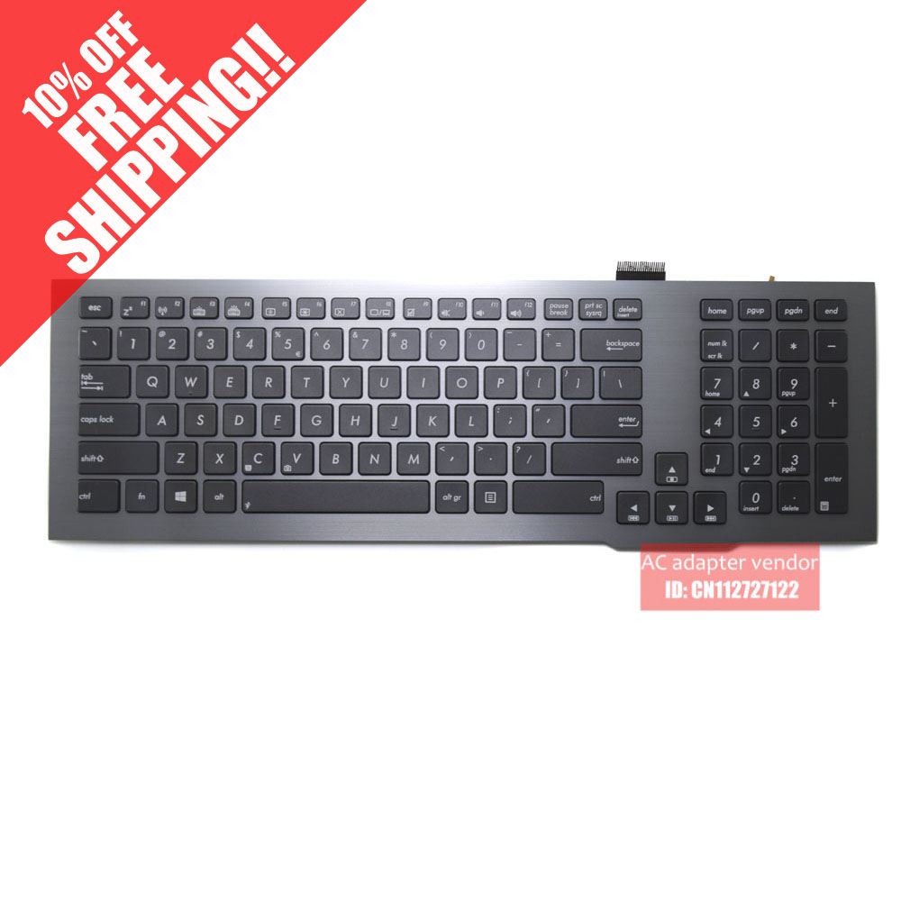 New Replacement FOR Asus FOR Asus G75 G75VW G75VX US English laptop keyboard backlight gray box philips bhd 001