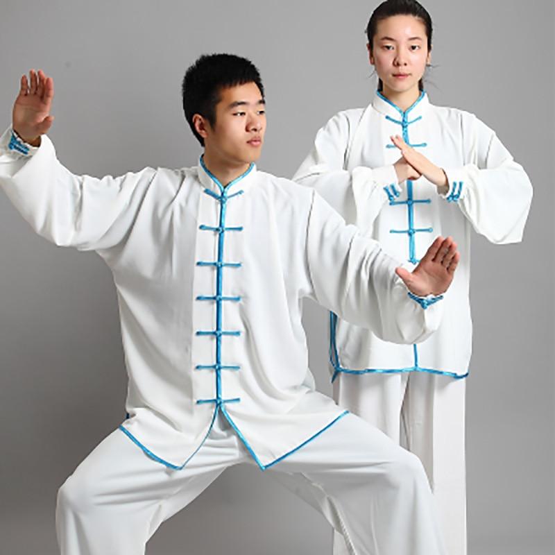USHINE HJ01 Traditional Chinese Clothing Short Long Sleeve TaiChi Wushu KungFu Uniform Suit Uniforms Tai Chi Fitness Clothing