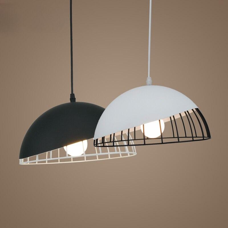 Modern Iron Loft pendant lights Simple Scandinavian Bar Restaurant Cafe E27 Pandent Lamp Lighting loft modern simple 3d plated colourful