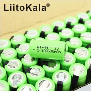 Image 5 - LiitoKala 2/3AA Batteria Ni Mh AA 1.2V 600mAh Batteria Ricaricabile Con Spilli