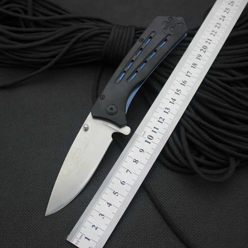 Folding font b Knife b font WM 5CR13MOV Steel Blade Aluminum alloy Handle Survival Knifes font