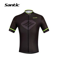 Santic Cycling Jersey Summer Breathable Bicycle Clothing Men Short Sleeve Road Mountain Bike Jersey Wear Maillot Ciclismo