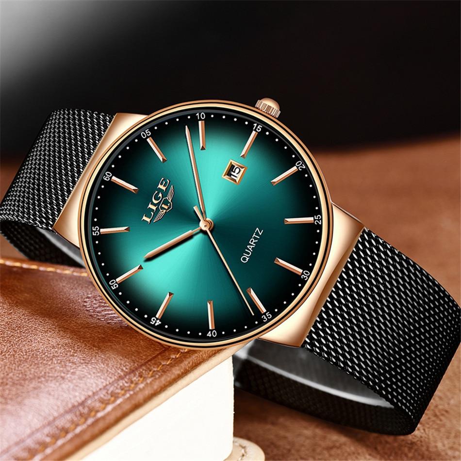 HTB1RK7mQHvpK1RjSZFqq6AXUVXaI LIGE New Mens Watches Top Brand Luxury Fashion Mesh Belt Watch Men Waterproof Wrist Watch Analog Quartz Clock erkek kol saati