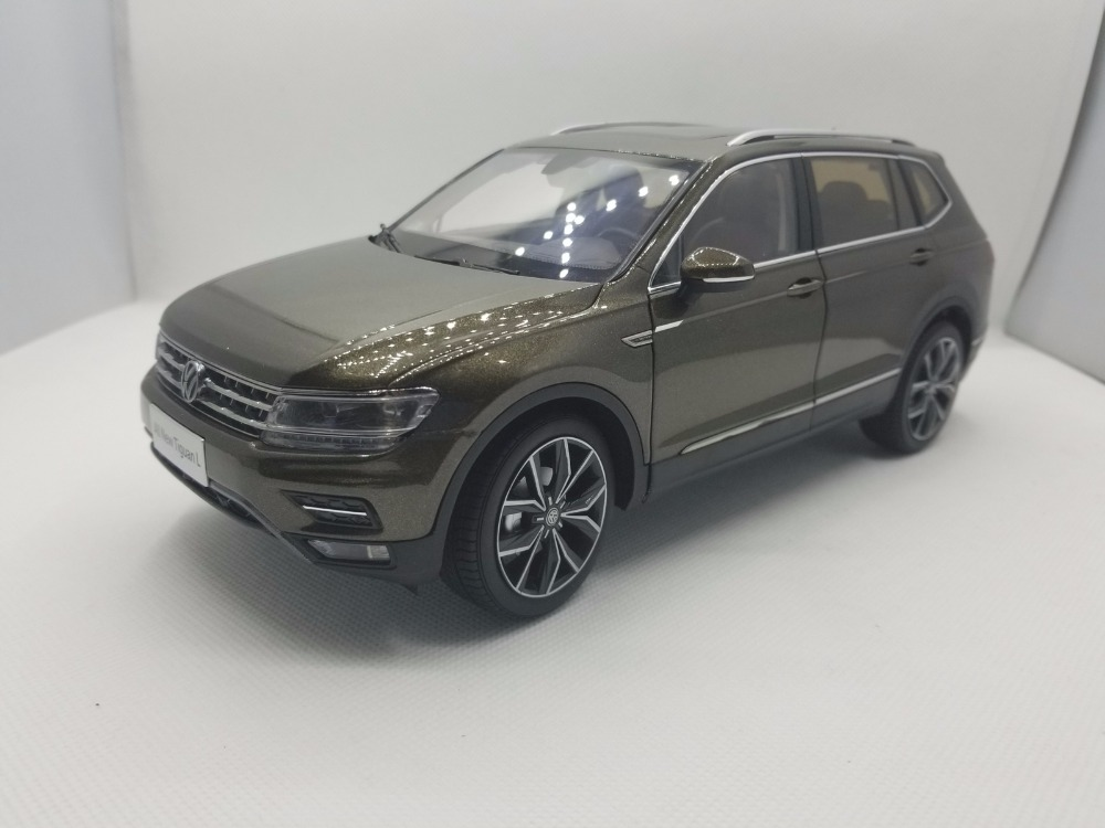 1:18 Diecast Model for Volkswagen VW Tiguan L 2017 Brown Alloy Toy Car Miniature Collection Gifts масштаб 1 18 vw volkswagen tiguan 2013 diecast модель автомобиля белый